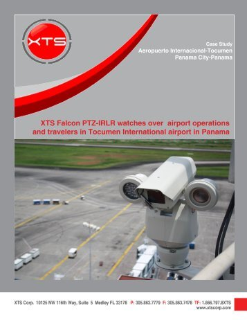 XTS Falcon PTZ-IRLR watches over airport operations ... - XTS Corp