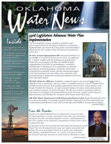 2012 2nd Quarter - Water Resources Board - State of Oklahoma