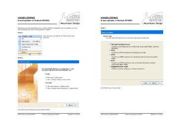 Handleiding voor de configuratie van uw e-mail in Outlook XP/2003