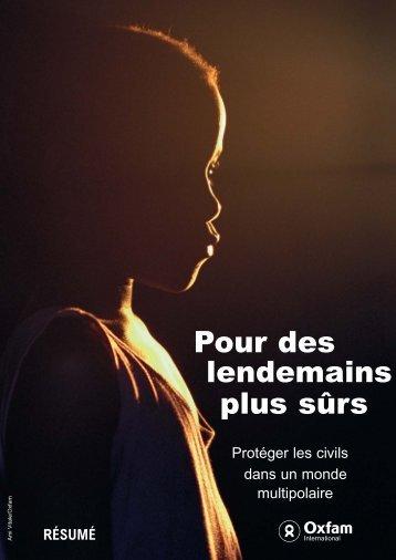 Pour des lendemains plus sûrs (résumé) - Oxfam International