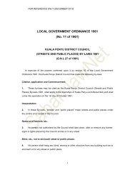 LOCAL GOVERNMENT ORDINANCE 1961 (No. 11 ... - Sabah Lawnet
