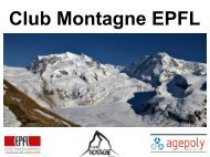 adresse! - Club Montagne EPFL