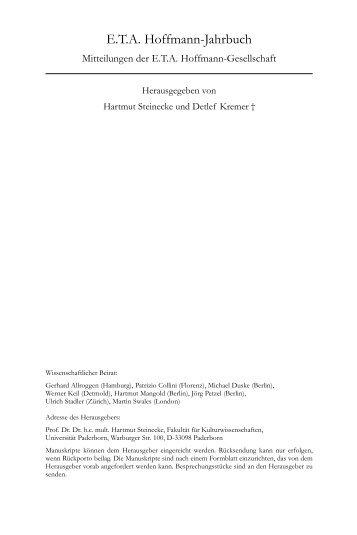 ETA Hoffmann, Lfg. 17/09 - Erich Schmidt Verlag