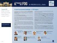 Programm des FOG-Kongresses - Arbeitsgemeinschaft ...