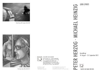 PETER HERZOG · MICHAEL HEINZIG - Galerie am Damm