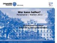 Wer kann helfen? - Personalrat - Universität Rostock