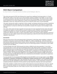 SOA Stack Comparison - Service Technology Magazine