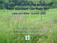 RI Land stewardship protocols: How standard can they be?