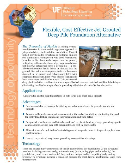 Flexible, Cost-Effective Jet-Grouted Deep Pile Foundation