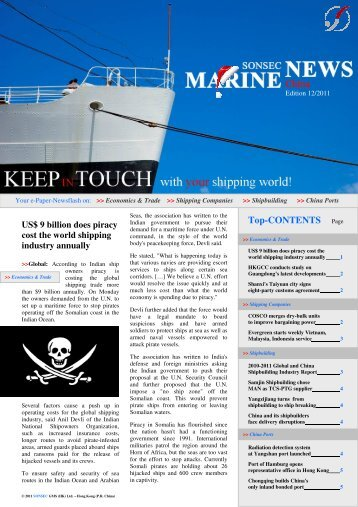 MNC - December 2011 - Marine News China - Shipping ...