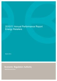 2010/11 Annual Performance Report – Energy Retailers