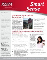 Smart Sense September 2011 - Topline Federal Credit Union
