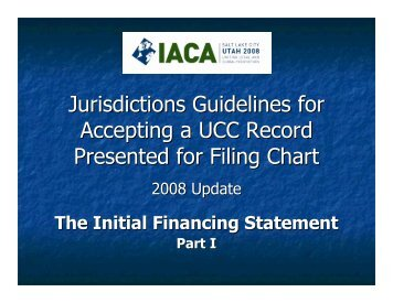 UCC1 Filing Chart Examples - IACA