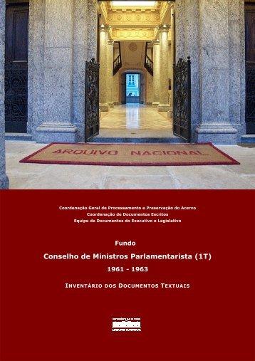 Conselho de Ministros Parlamentarista - Arquivo Nacional