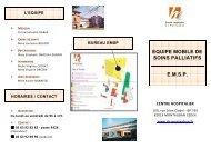 Plaquette EMSP - Centre hospitalier de Montauban