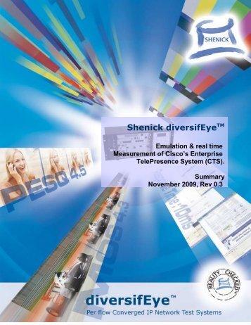 Shenick - Cisco TelePresence System emulation & real ... - Indes.com