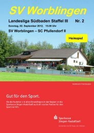 SC Pfullendorf II - SV Worblingen