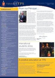 Issue 1 February 2012 - The Peninsula School
