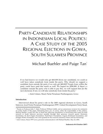 party-candidate relationships - Columbia University
