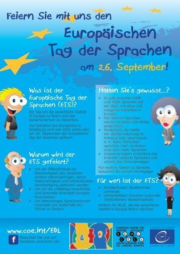 Flyer downloaden - European Day of Languages - Ecml.at