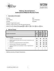 History–Social Science Instructional Material Review Form