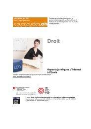 Aspects juridiques d'Internet à l'école - Les Dangers du Net