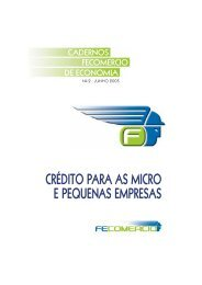 crédito para as micro e pequenas empresas - Fecomercio