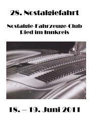 28. Nostalgiefahrt 18. – 19. Juni 2011 - NOSTALGIE-FAHRZEUGE ...