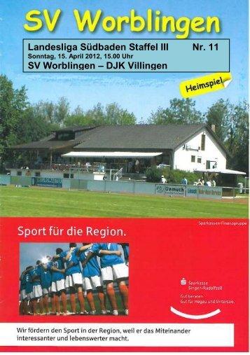 DJK Villingen - SV Worblingen