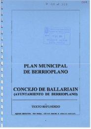 PLAN MUNICIPAL DE BERRIOPLANO - SIUN - Navarra