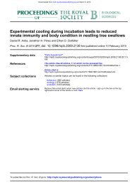 Experimental cooling during incubation leads to reduced innate ...