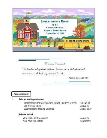 Mission Statement We develop independent lifelong learners in a ...