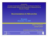Recommendations for R&D priorities Brussels ... - Eusustel.be