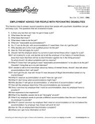 employment advice for people with psychiatric disabilities - Disability ...
