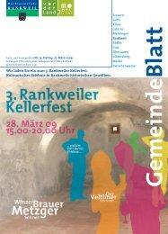 Wir laden Sie ein zum 3. Rankweiler Kellerfest. Kulinarisches ...