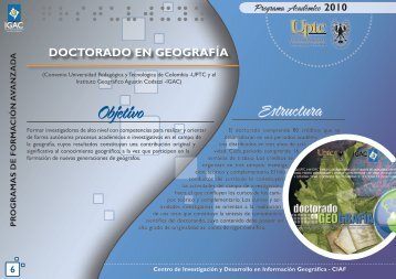 Doctorado en Geografía - Instituto Geográfico Agustín Codazzi