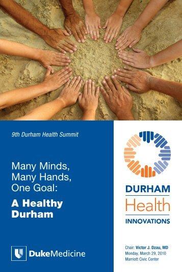 Durham Health Summit Brochure - DTMI - Duke University