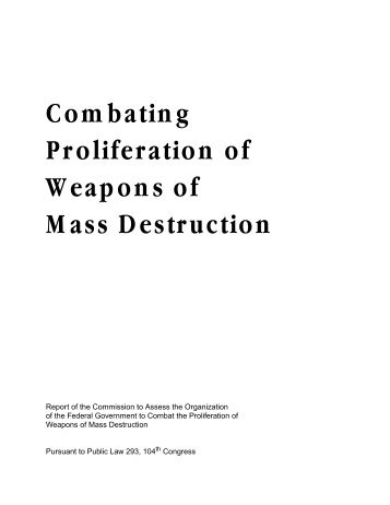 iran and weapons of mass destruction essay