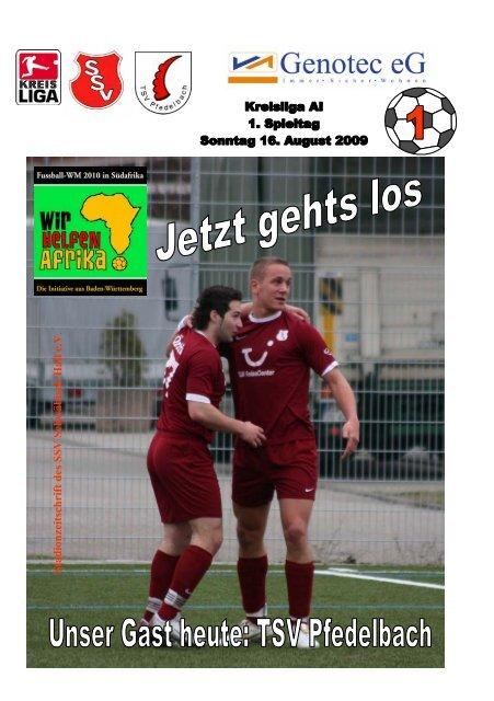 Heft des SSV Schwäb. Hall 16. August 2009 - TSV Pfedelbach