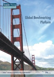 Global Benchmarking Platform - TPA Global