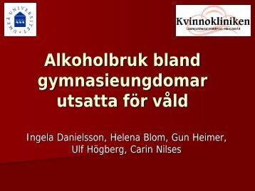 OR för riskbruk av alkohol - SFOG