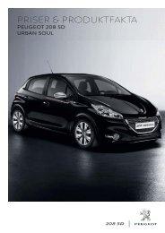Öppna pris- och produktfakta - Peugeot