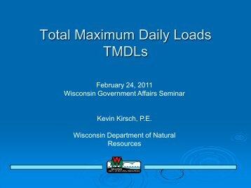 Total Maximum Daily Loads TMDLs