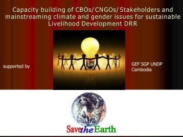 Capacity building of CBOs/CNGOs/Stakeholders and ... - Amazon S3
