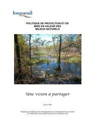 Politique des milieux naturels - Brossard