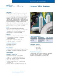 Oenopure™ II Filter Cartridges - Pall Corporation