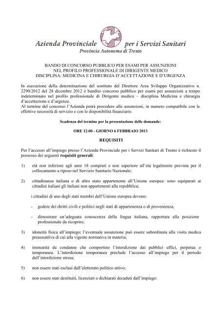 bando - Ordine dei Medici e degli Odontoiatri della Provincia di ...