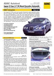 Umfassender Test Jaguar S-Type 2.7 V6 Diesel Executive ... - ADAC