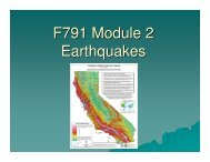 F791 Module 2 Earthquakes