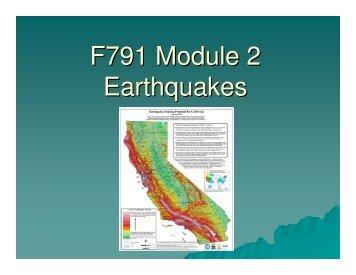 F791 Module 2 Earthquakes